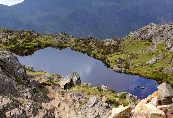 The tarn at the summit