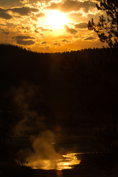 Sunset Over a Sulfer River
