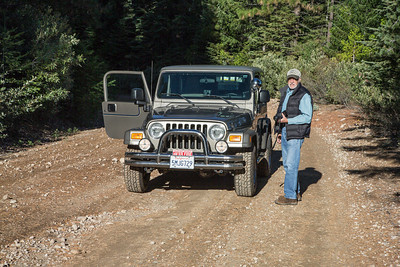 Dave Yaksick and his trust jeep.