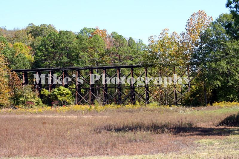 A railroad tressel bridge west of Amity