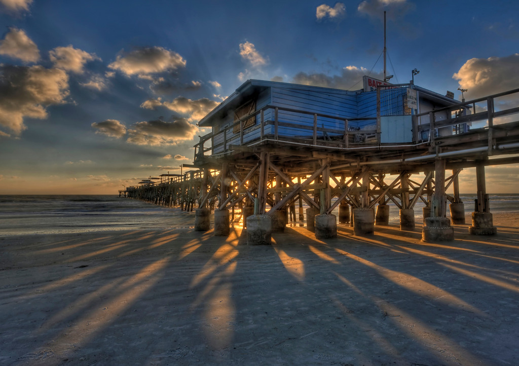 Redington Beach Pier at Sunset