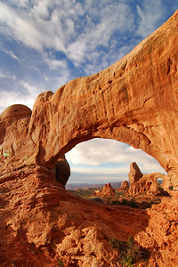 Turret Arch through North Window Arch, Arches National Park