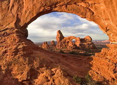Turret Arch through North Window. Arches National Park Utah. Photo by Mike Reid, All Outdoor Photography Boise.