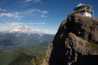 Mt Rainier and the Lookout.  What a gorgeous day....