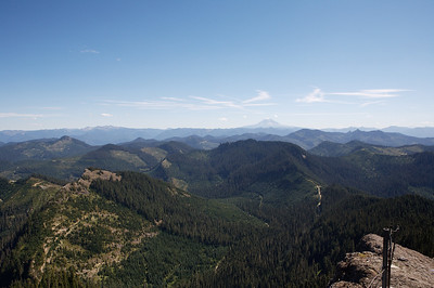 Looking South from the tip of High Rock, in front of the lookout building. Mt Adams is in the distance.
