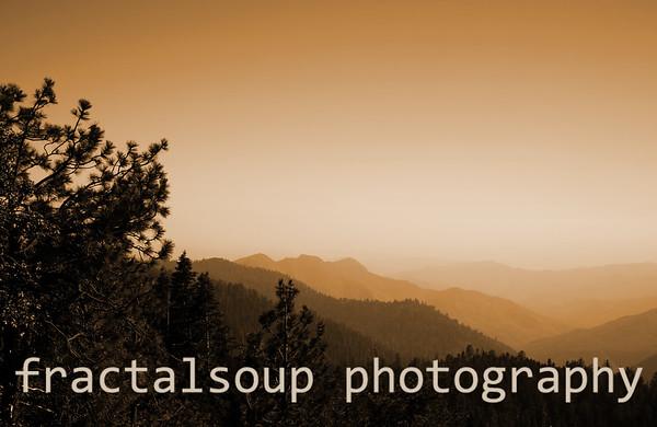 Beautiful Mountain Vista in the High Sierra Nevada Mountains