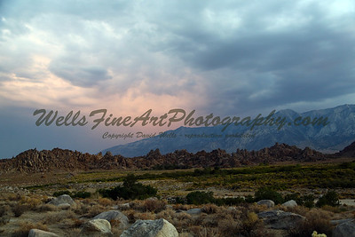 Cloud glow over Alabama Hills