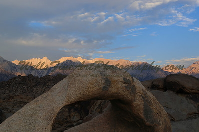 Whitney dawn over Mobius Arch