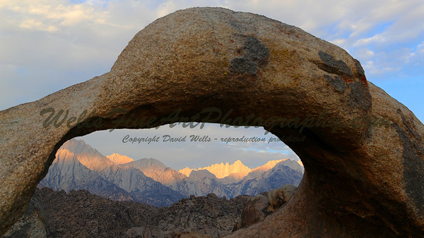 Whitney dawn through Mobius Arch