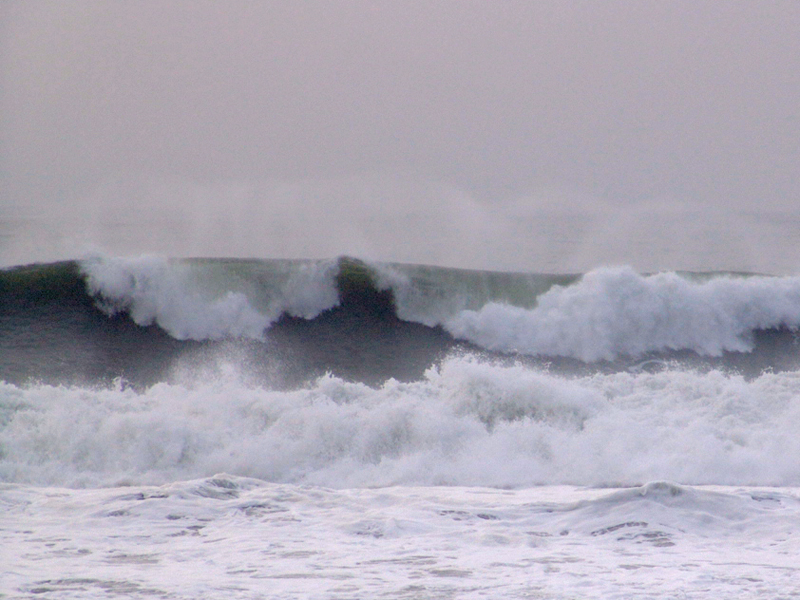 December 25, 2005. Rockaway Beach waves.