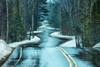 Winter Rain On The Curvy Road