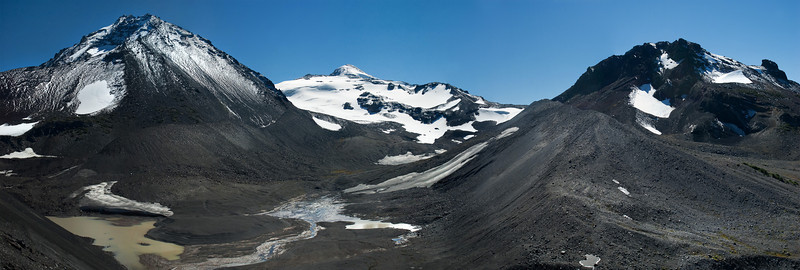 North Sister and Collier Glacier from the edge of Collier Cone