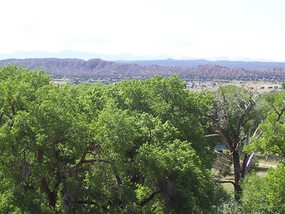 The view across the valley from Black Mesa.