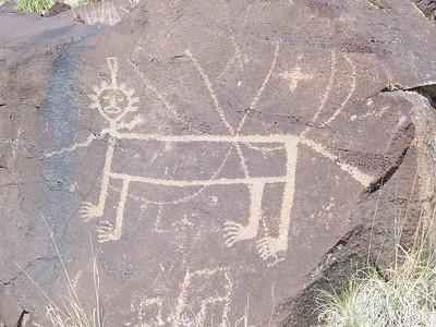 A lion figure.
