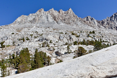 Peaks of Evolution Basin, Mts. Mendel and Darwin, 13,831 ft.