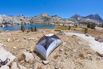 Tent Site Next to Evolution Lake