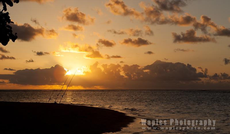 Sunset Along Anini Beach