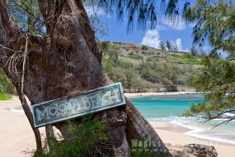 Entering Moloa`a Beach