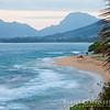 Waipouli Beach with Ha'upu Ridge