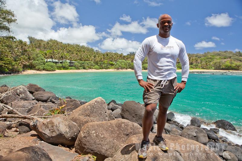 Stephen at Papa'a Beach