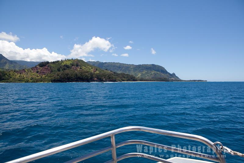 Heading to Na Pali Coast State Park