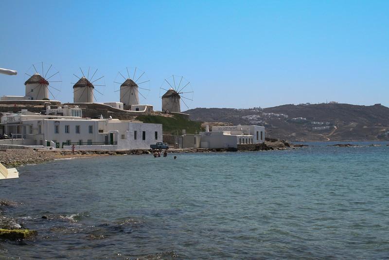 Windmills, Mykonos, Cyclades, Greece