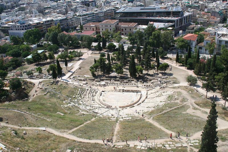 Views from the Parthenon Acropolis