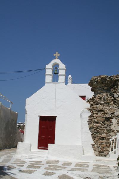 Chapel at Mykonos Port, Cyclades, Greece