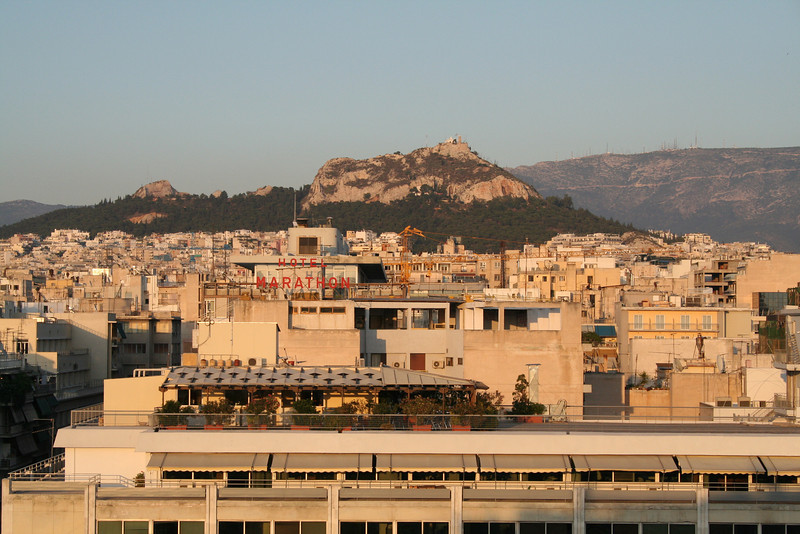 Views of Athens from Hotel Stanley