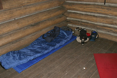 This is where I spent my first night in the Thomas Knob Shelter.