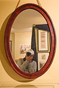 Me in the mirror that hung in the Lincoln White House (possibly the last reflection Lincoln saw of himself before his visit to Ford's Theater).