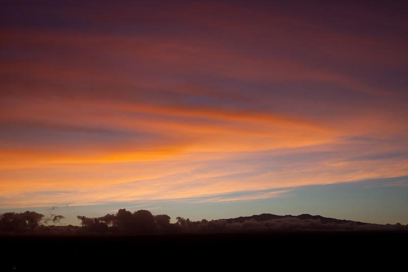 Sunset over Mauna Kea (3/23/10).