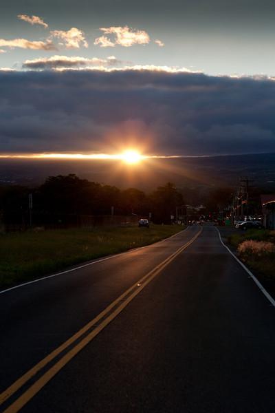 Last rays of sunlight (9/28/10).