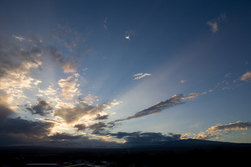Sunset over Mauna Loa (Nov '07)