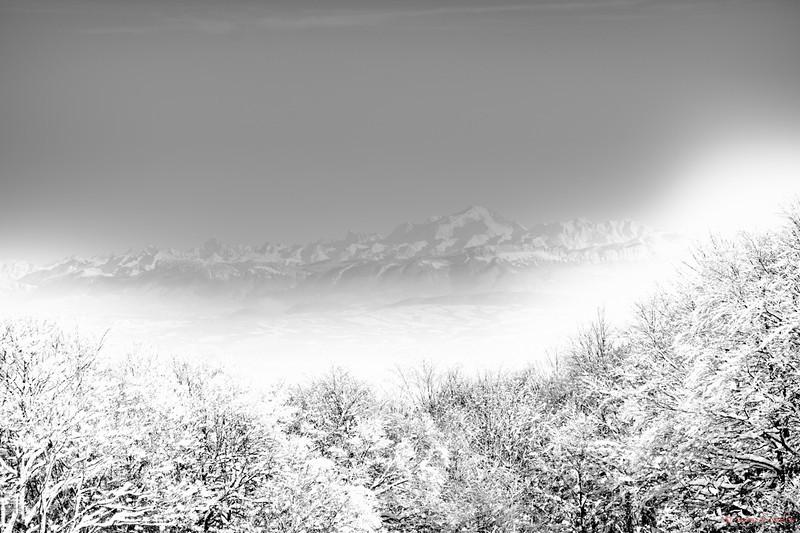 Variation de tons sur Mont Blancs