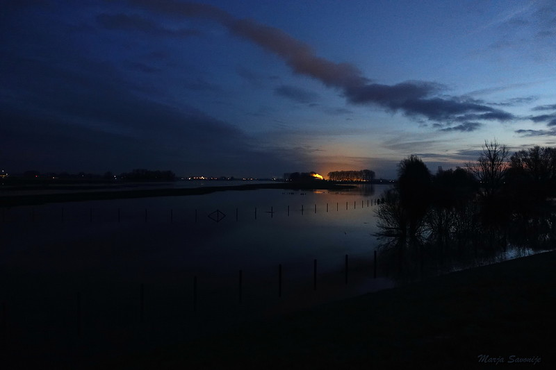 Hoog water 6 januari, zonsopkomst 8 uur