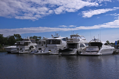 Boats at South Bay Marina