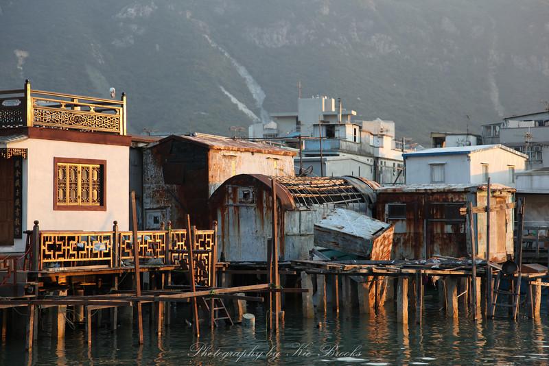 Stilt houses in Tai O (大澳) on the Western side of Lantau Island (大嶼山).