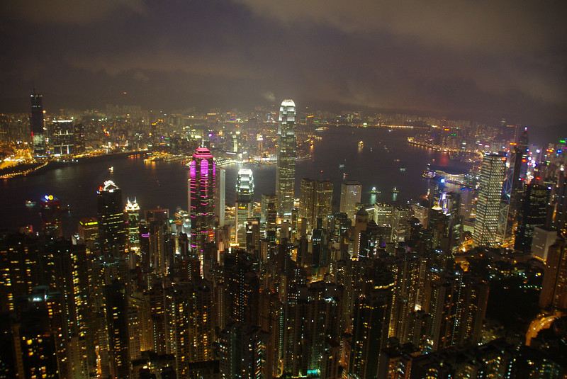 Victoria Peak offers suberb views all over the place, I recommend to hike around the Peak