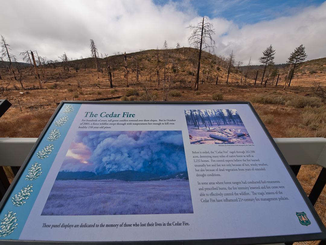 Memorial to Cedar Fire