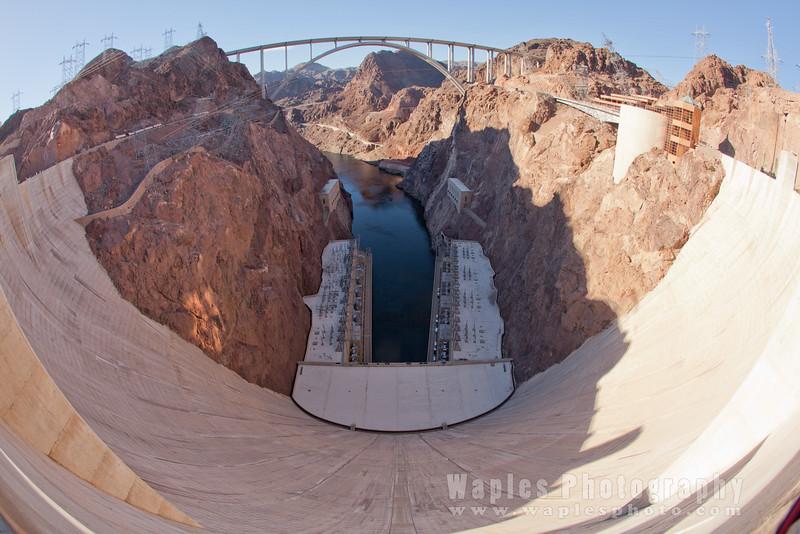 Face of Hoover Dam and Mike O'Callaghan - Pat Tillman Memorial Bridge