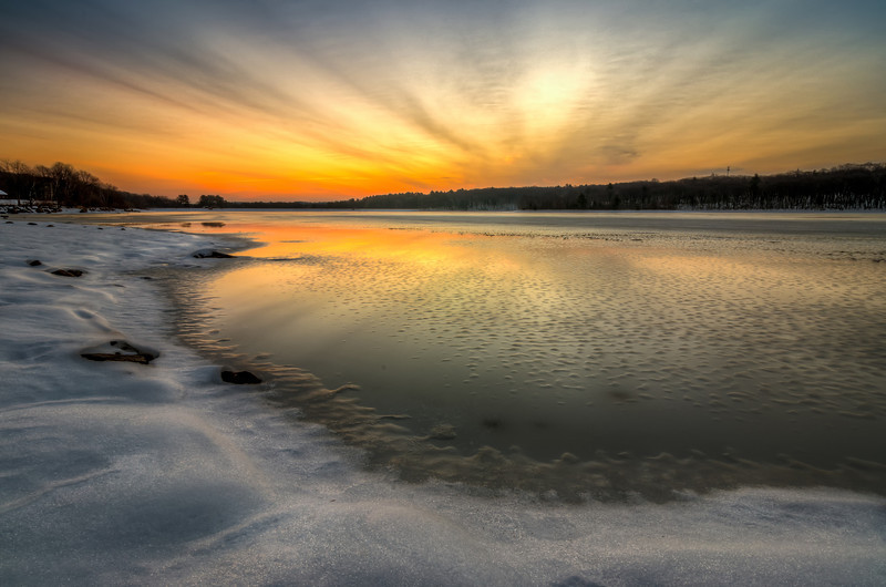 Icy Dawn at Hopkinton State Park