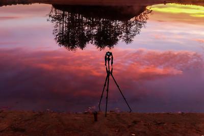 Behind the Scenes - Sunrise at Hopkinton State Park - Tom Sloan