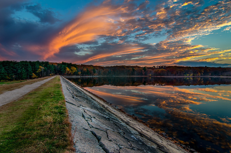 Sunset Clouds at the Dam