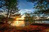 Sunrise through the trees - Hopkinton State Park