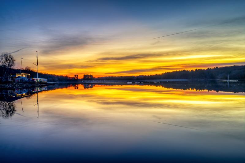 Boathouse Dawn - Hopkinton State Park - Tom Sloan