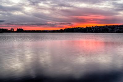 Fire on the Horizon - Hopkinton State Park - Tom Sloan