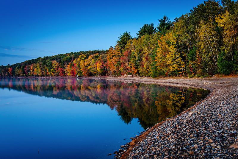 Clear skies on crisp fall morning