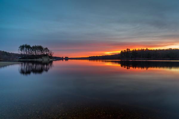 Sunrise Scene 2 - Hopkinton State Park - Tom Sloan