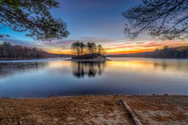 Peaceful Sunrise at Hopkinton State Park